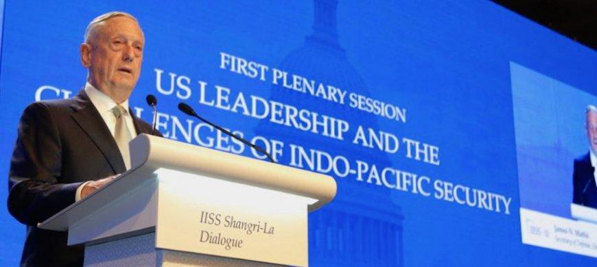 Mattis at 2018 Shangri-La Dialogue