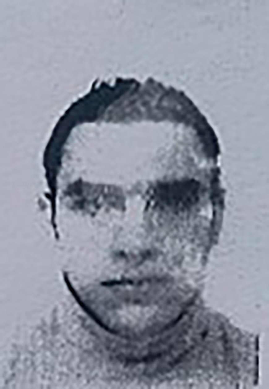 A reproduction of the picture on the residence permit of Mohamed Lahouaiej Bouhlel, the man who rammed his truck into a crowd celebrating Bastille Day in Nice on July 14.
