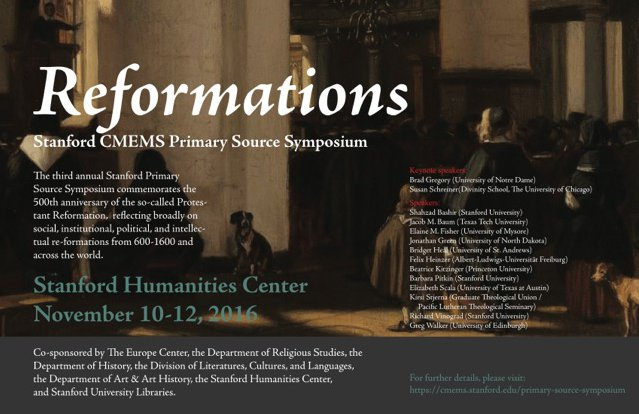 Reformations Symposium Poster