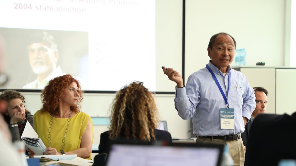 Francis Fukuyama teaching for the Leadership Academy for Development