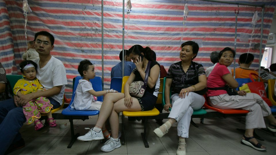 Young patients receive treatment at Chongqing Children's Hospital in Chongqing Municipality, China.