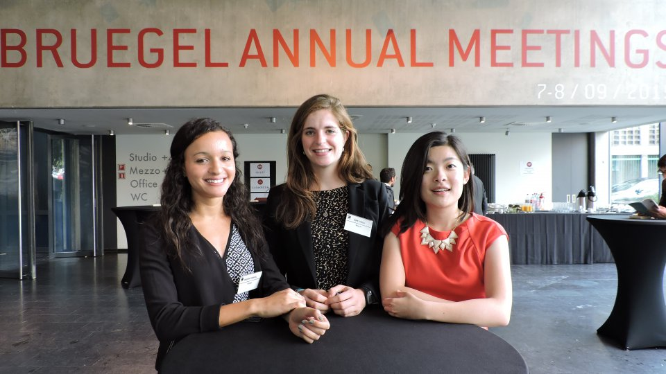 TEC interns attending the Bruegel annual meetings