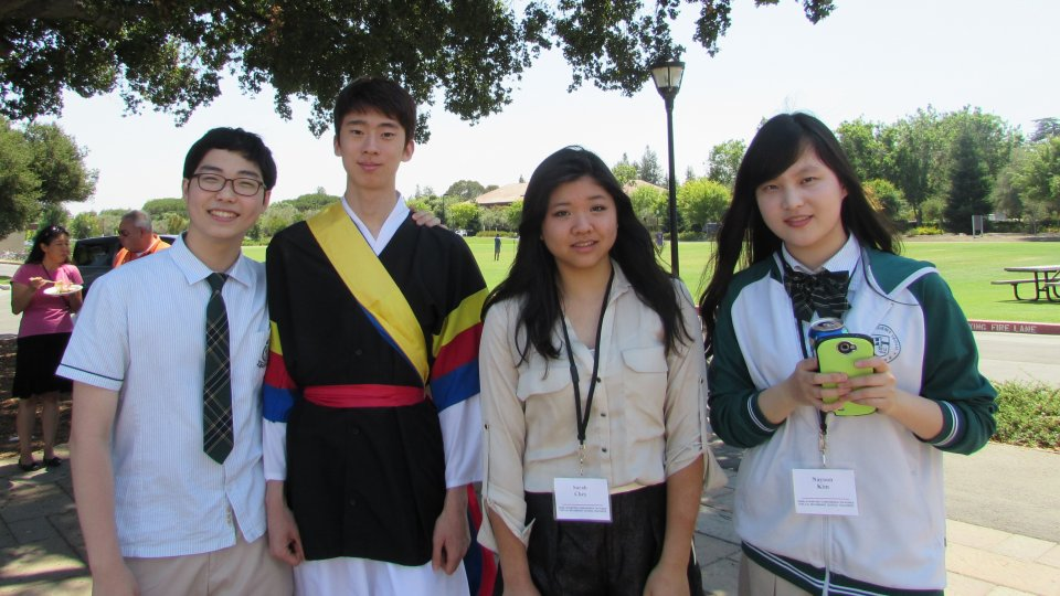 Students attending Korean culture event at Stanford.