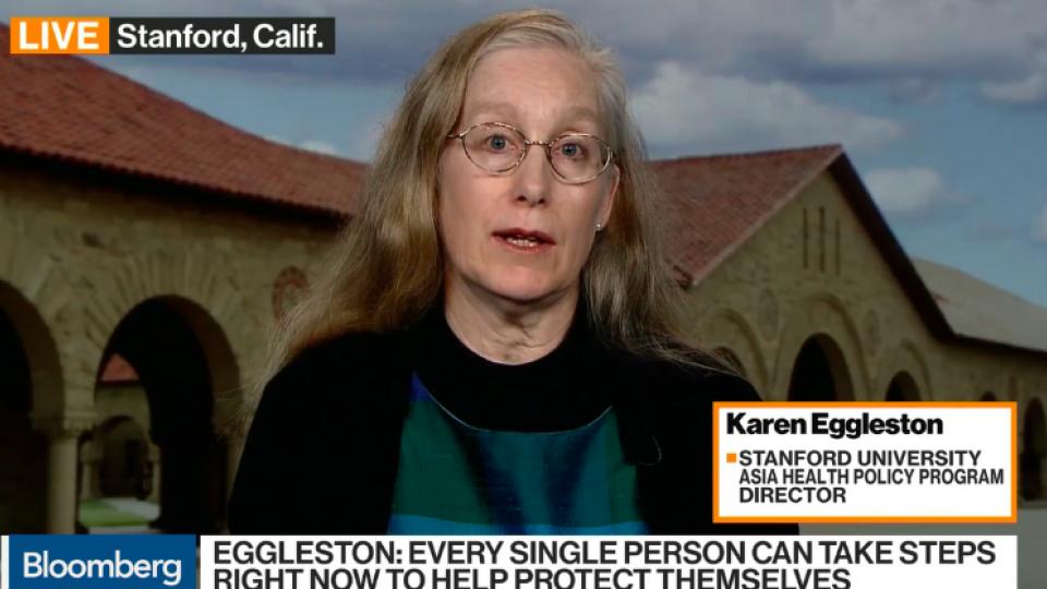 Karen Eggleston on Bloomberg Market news.
