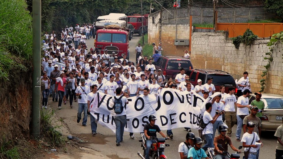 Venezuelan students protest