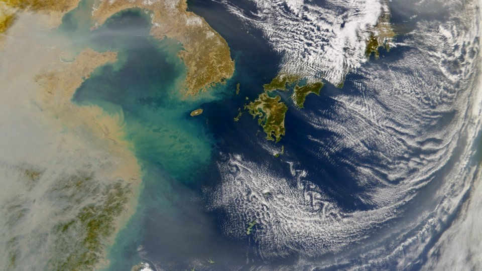 haze over east china sea feb 2004