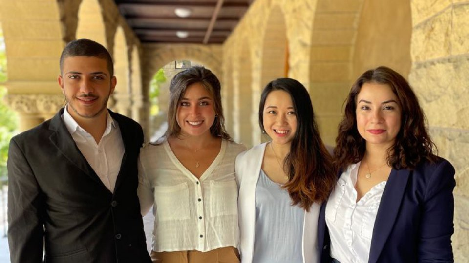 Students on the NREL policy team