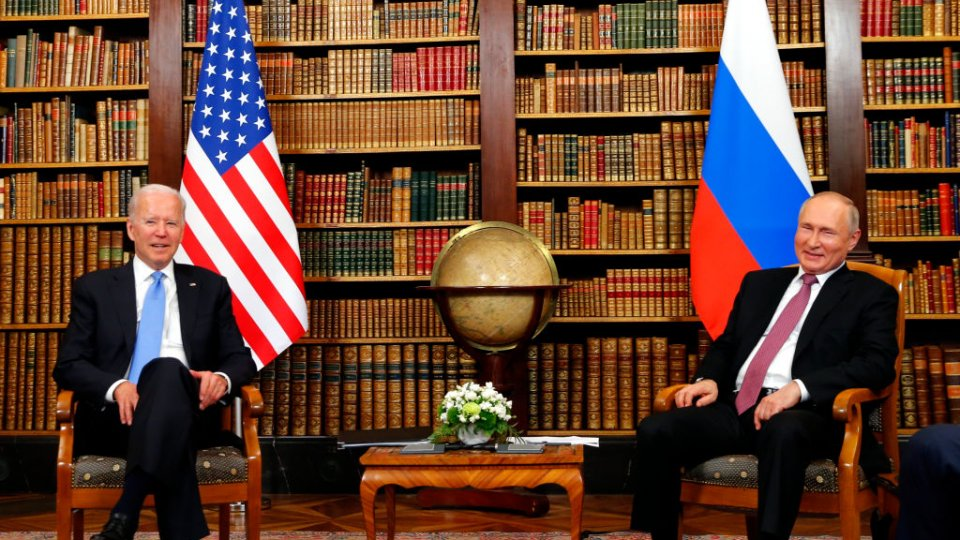 President Biden and Vladimir Putin