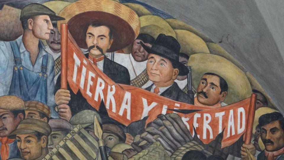 mural featuring emiliano zapata