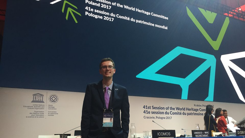 on the dais at 41whc