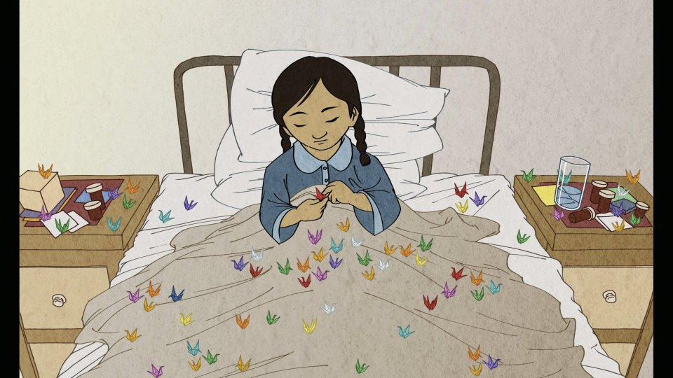 "Illustration in the SPICE teaching resource ""Sadako's Paper Cranes and Lessons of Peace"""