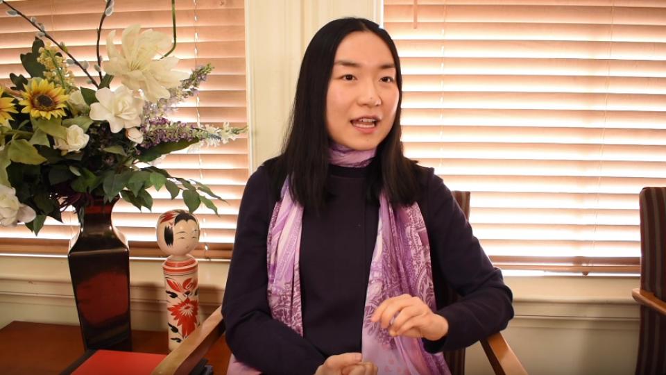 Ketian Zhang participating in Q&A