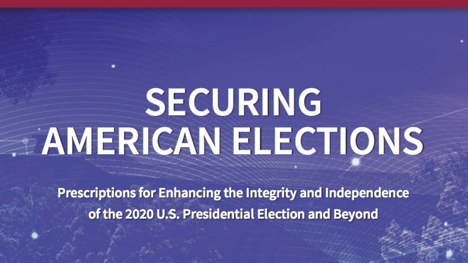 image of front cover of securing american elections