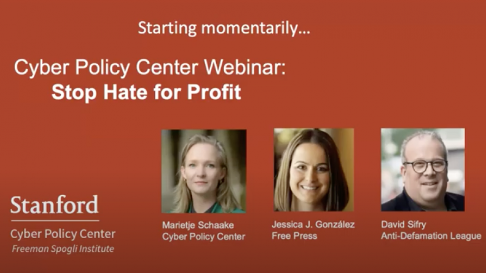 stop hate for profit screenshot of opening YouTube slide