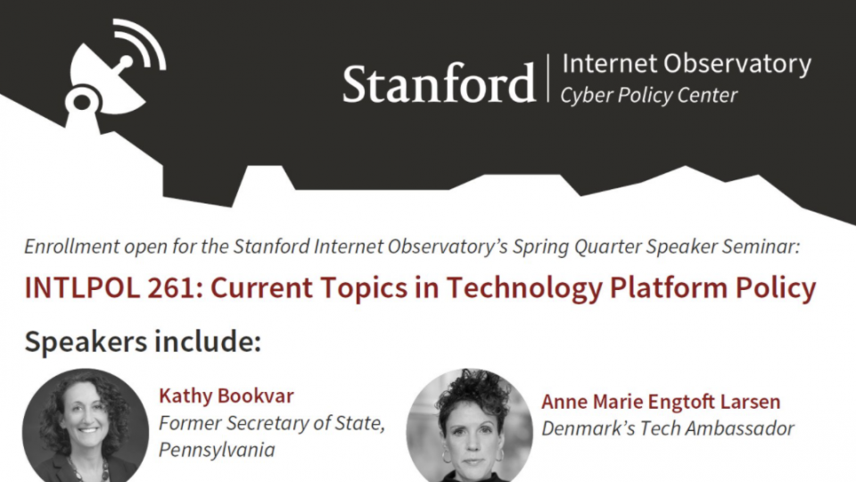 INTLPOL 261: Current Topics in Technology Platform Policy