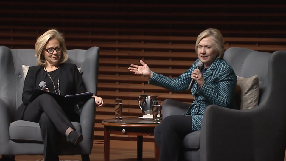Eileen Donahoe & Hillary Clinton, GDPi Launch
