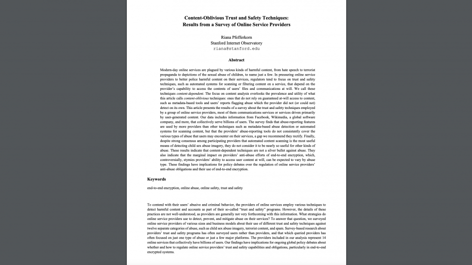 Image of Content Oblivious paper cover.