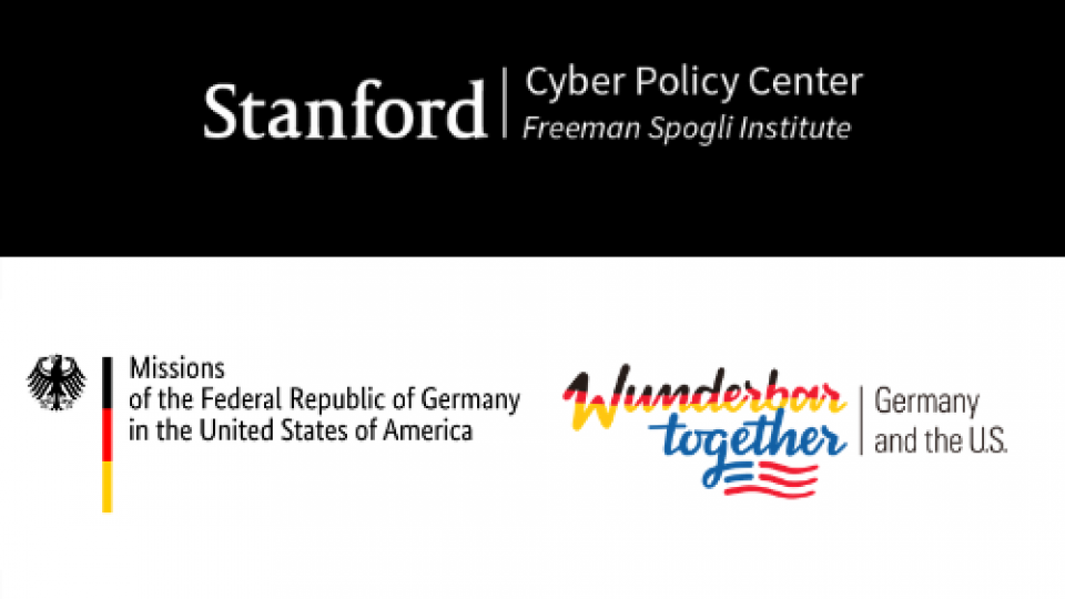 German Consulate logo and Stanford Logo