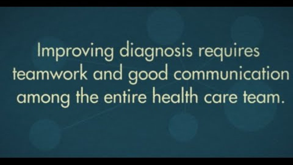 Improving Diagnostic Errors