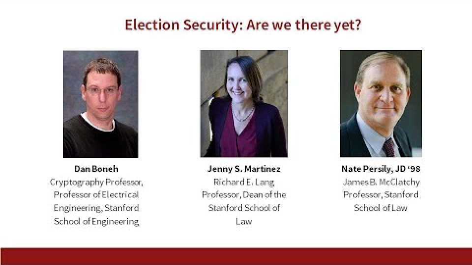 Election Security: Are We There Yet?