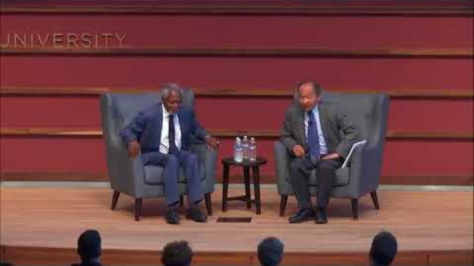 Kofi Annan in conversation with Francis Fukuyama