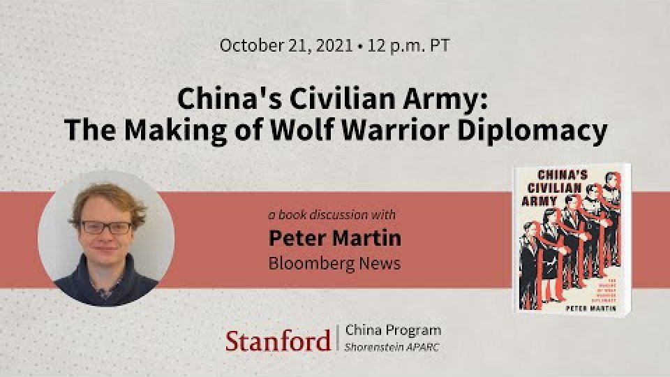 China's Civilian Army: The Making of Wolf Warrior Diplomacy | Peter Martin