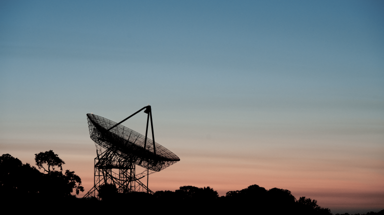 stanford dish at sunset