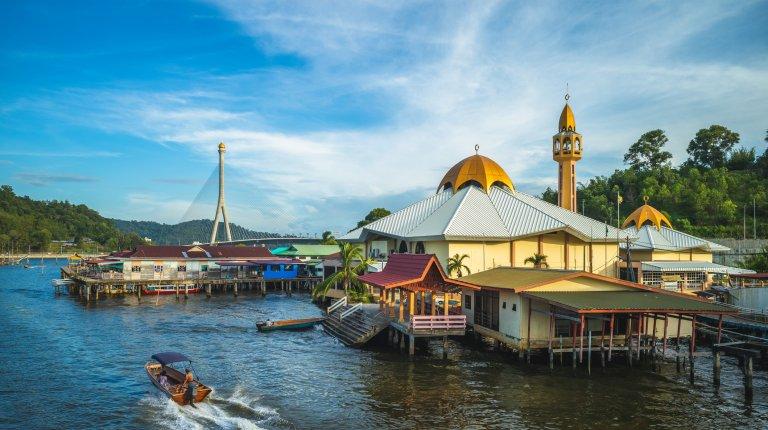 Kampong Ayer water village in Bandar Seri Begawan, Brunei