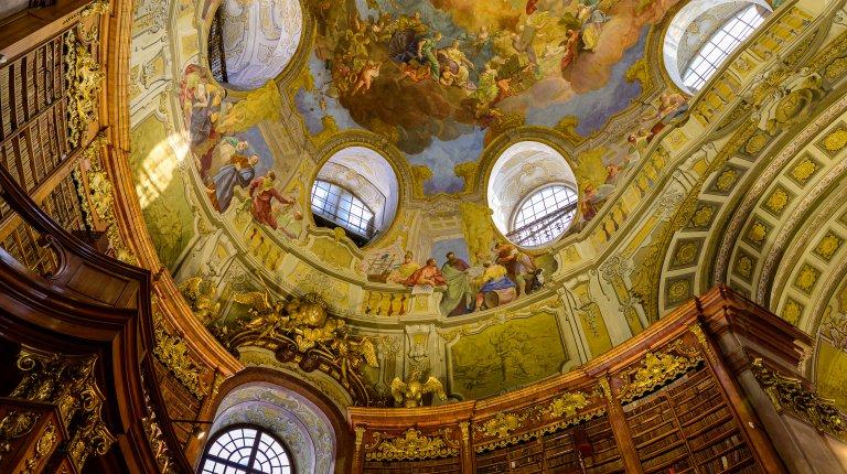 Vienna State Library interior, Austria
