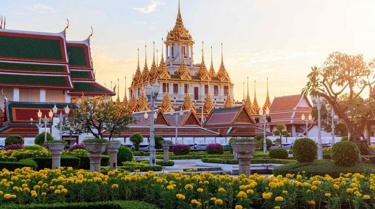 Wat Ratchanatdaram Temple in Bangkok, Thailand