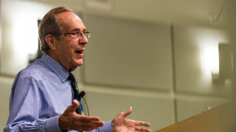 William J. Perry at podium
