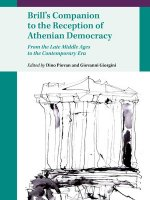 Brill's Companion to the Reception of Athenian Democracy- From the Late Middle Ages to the Contemporary Era