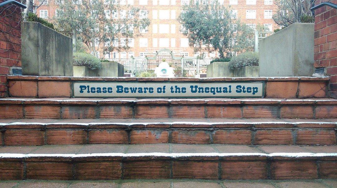 unequal steps
