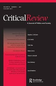 Critical Review: A Journal of Politics and Society