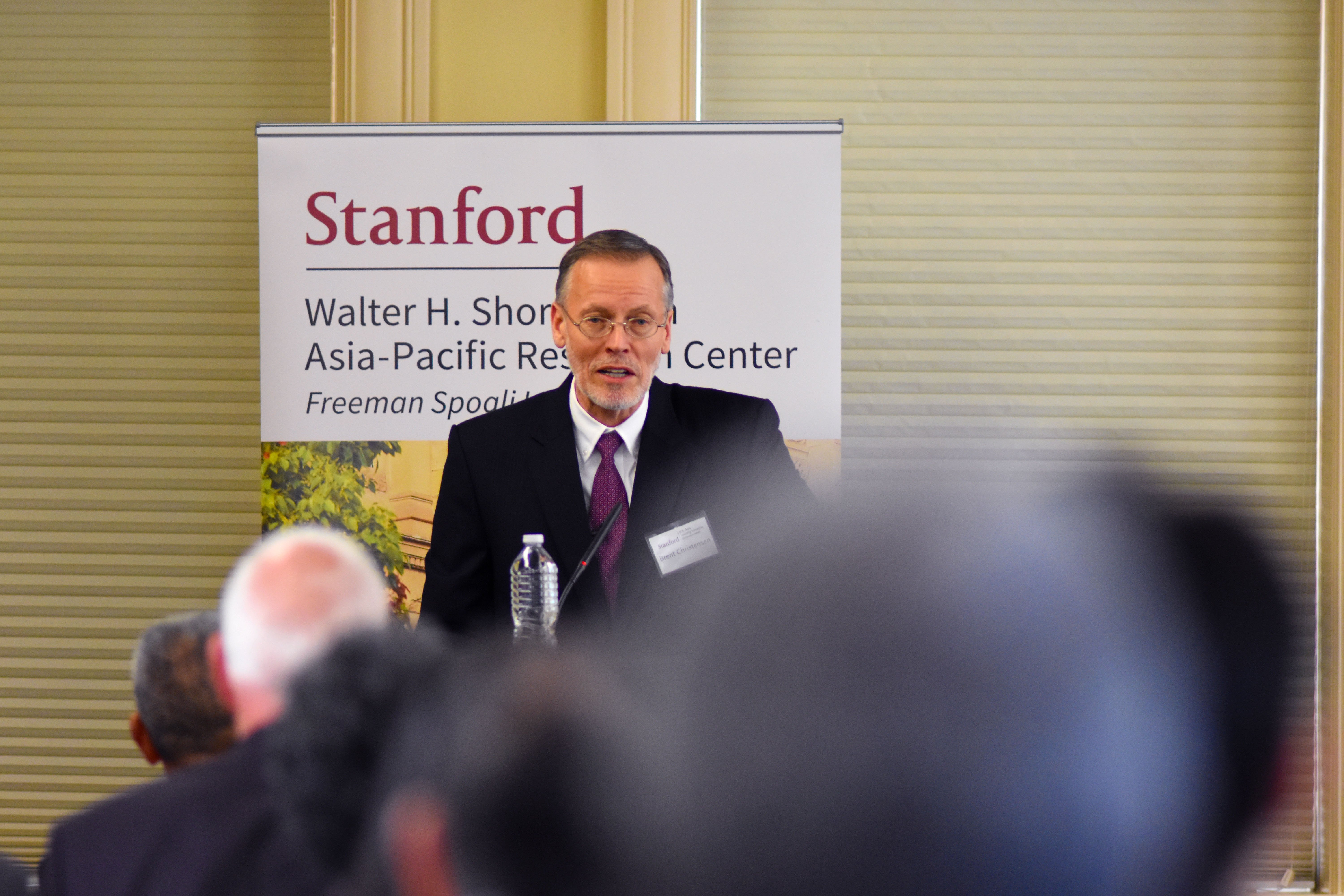 irector of the American Institute in Taiwan, Brent Christensen Speaking to Stanford Audience