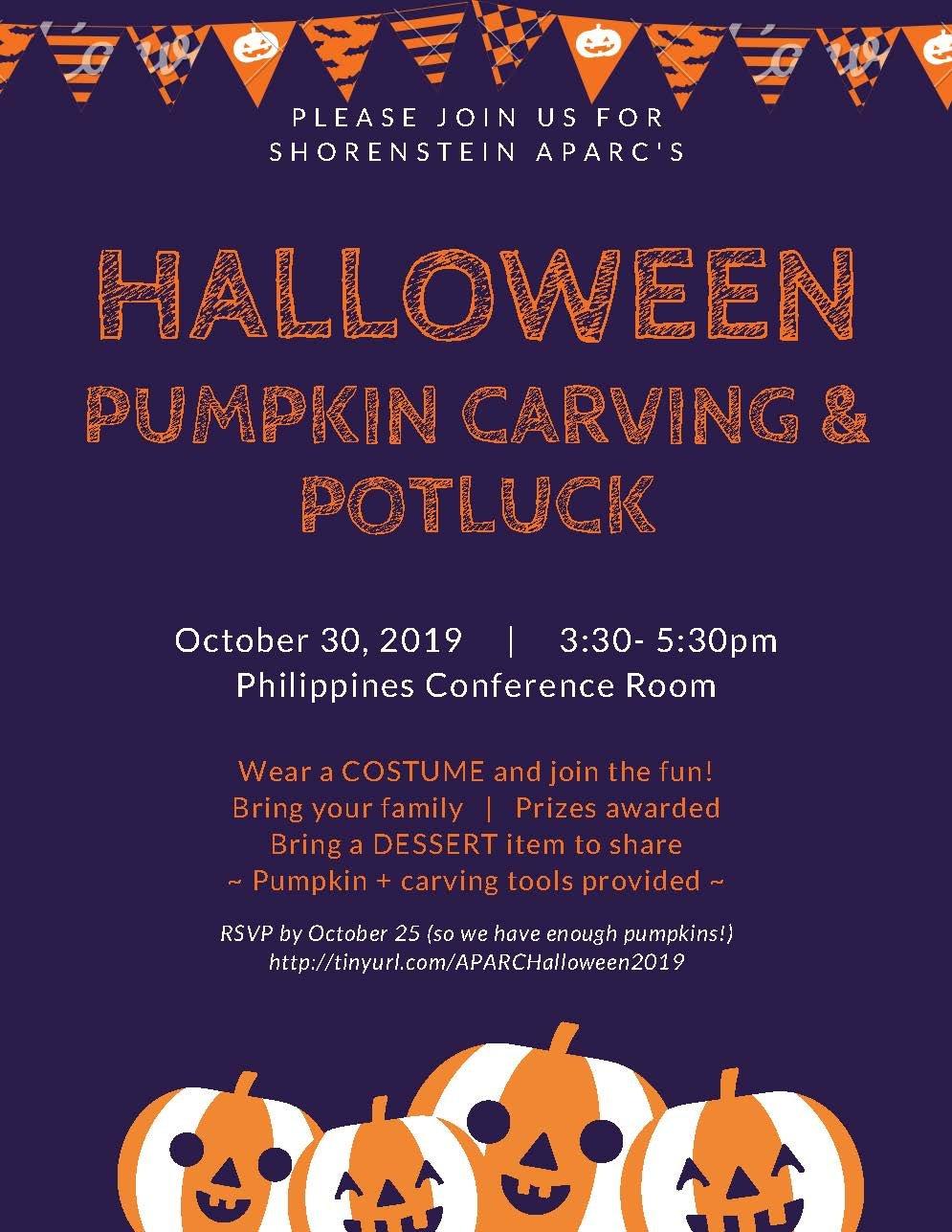 Fsi Halloween Pumpkin Carving And Dessert Potluck 2019