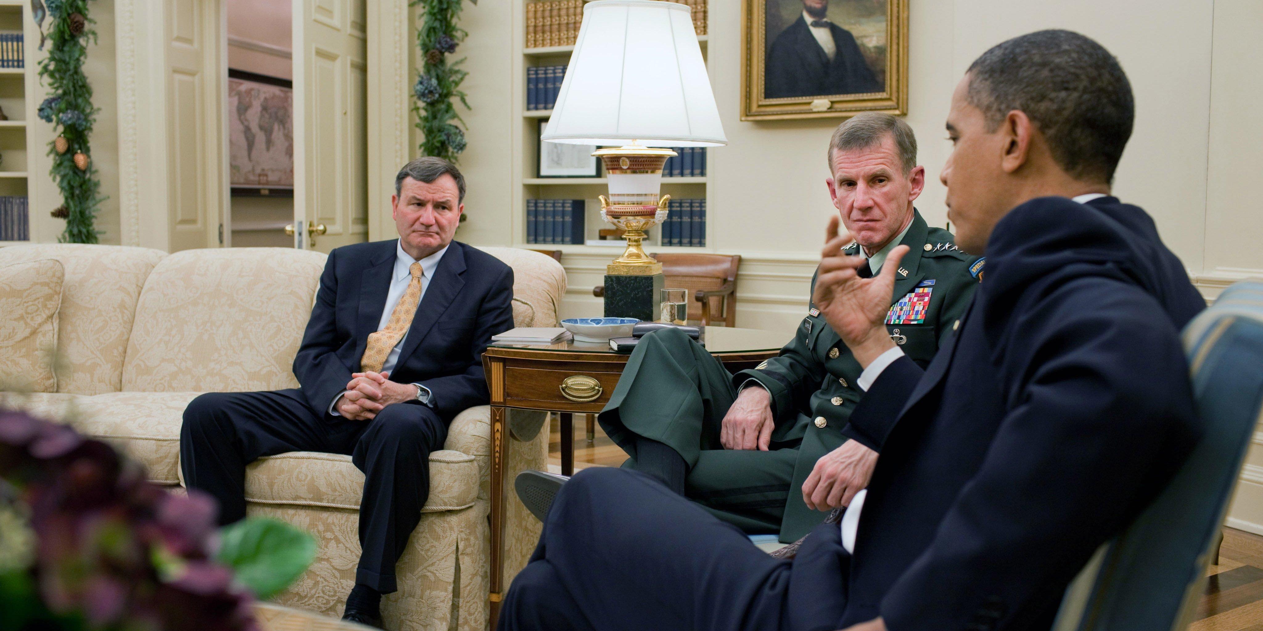 Barack Obama Ambassador Afghanistan Karl Eikenberry General Stanley McChrystal