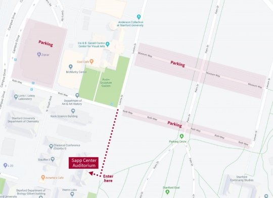 SAPP Center Parking map