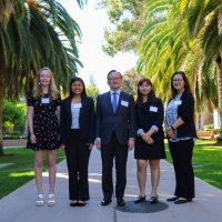 High school student honorees of SPICE's online course on Japan