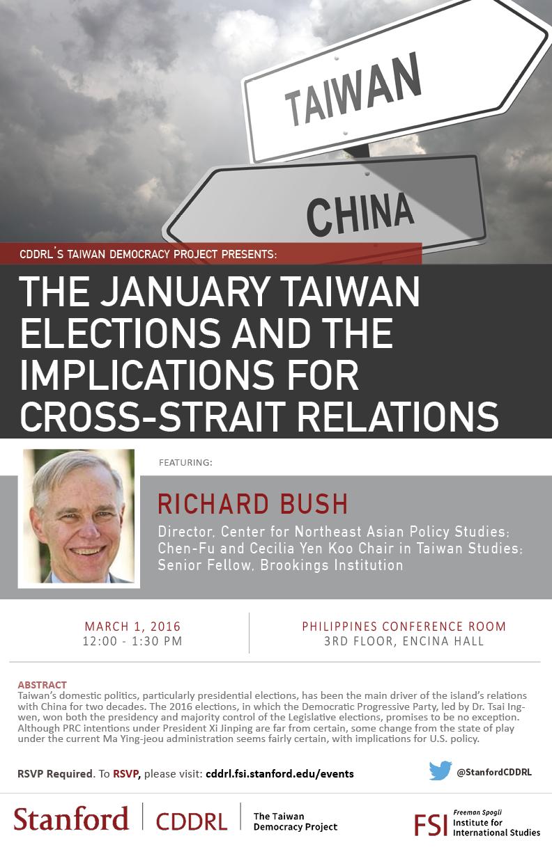 richard bush taiwan talk flyer