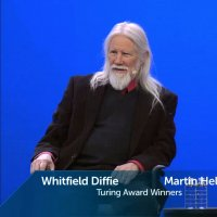 Whitfield Diffie and Martin Hellman are named as winners of the Association for Computing Machinery's 2015 A.M. Turing award onstage at the RSA Conference in San Francisco on March 1, 2016.
