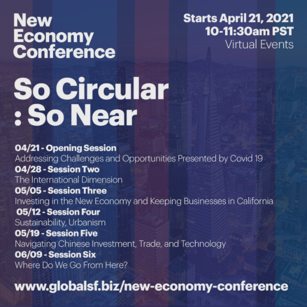 """Conference promotional image with text """"So Circular: So Near"""" and all event dates"""