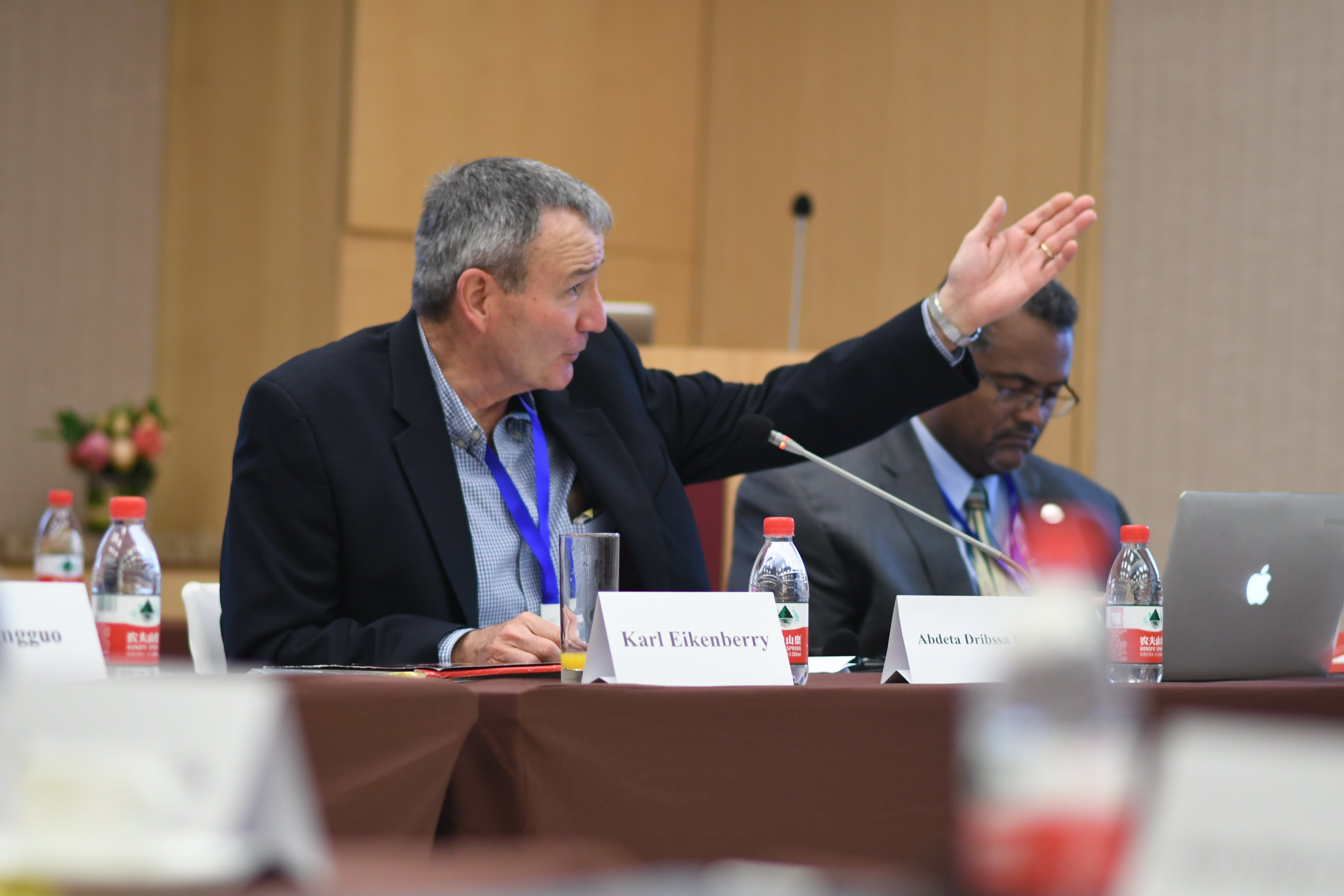 USASI Director Karl Eikenberry addresses one of the sessions