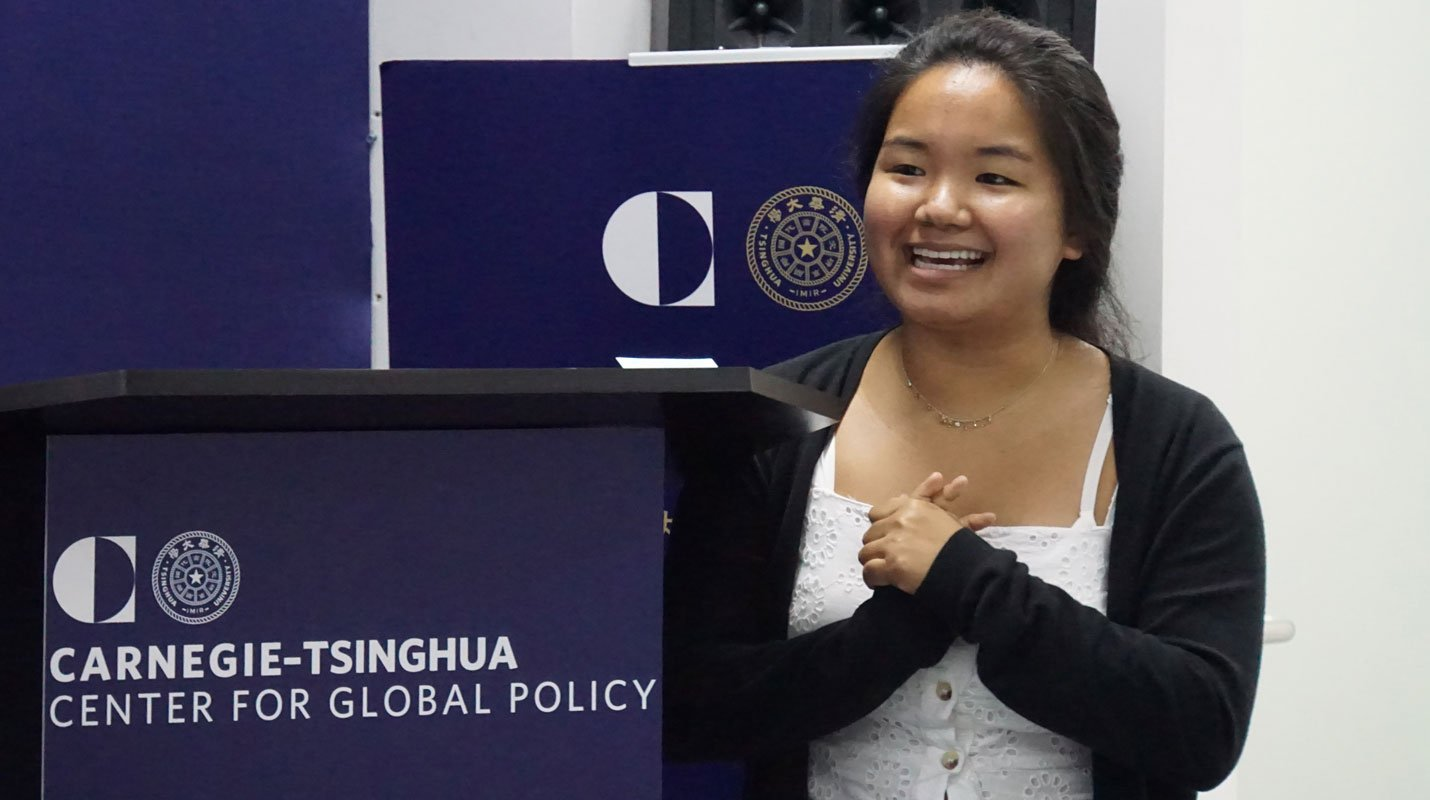 Yvonne Lee, Summer Intern at Carnegie-Tsinghua Center