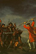 The Battle of Culloden, the final confrontation of the Jacobite rising and part of a religious civil war in Britain, 1746