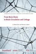 "Cover for working paper ""From Brain Drain to Brain Circulation and Linkage"" showing a networked series of wires"
