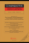 Cover of the journal Comparative Education.