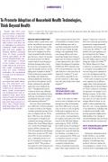 cover thurber warner platt slaski gupta miller adoption of household health technologies ajph 10310 oct 2013