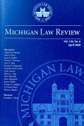 Michigan Law Review Cover
