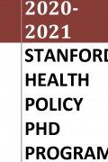 Stanford Health Policy PhD Handbook